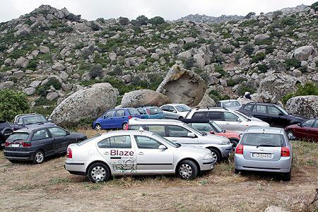 Tinos Volax Parkplatz