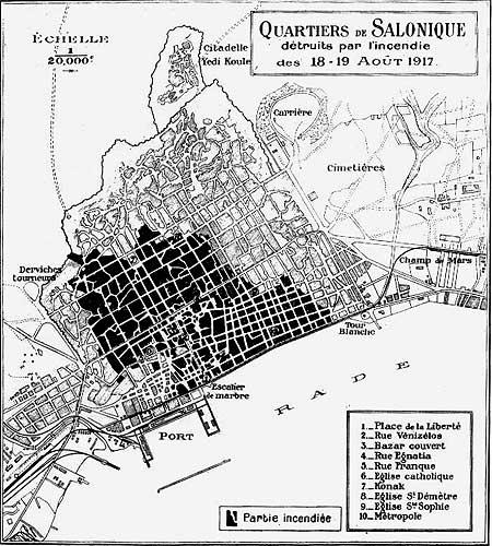 Thessaloniki Brand Karte