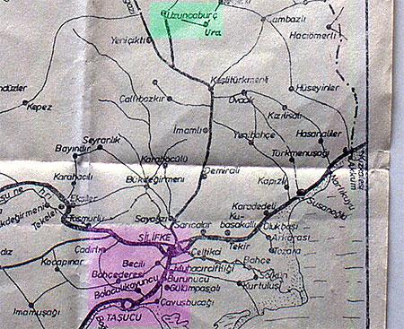 Karte Silifke