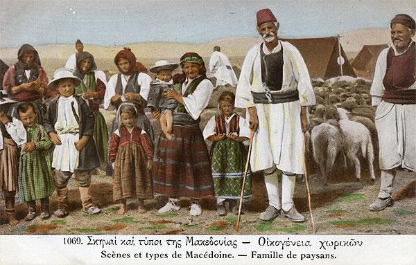 Makedonien Bauernfamilie