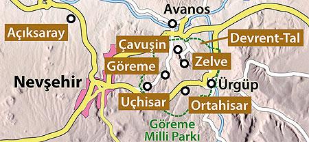 Göreme Karte wikipedia