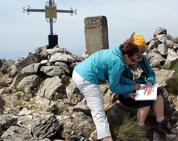 Gipfelbuch Kali Limni