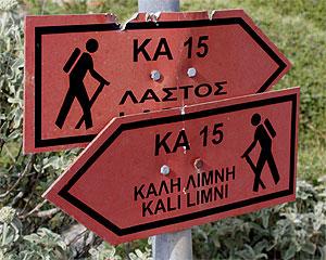 Kali Limni Wegschild