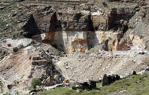 Marmor Steinbruch Vathy