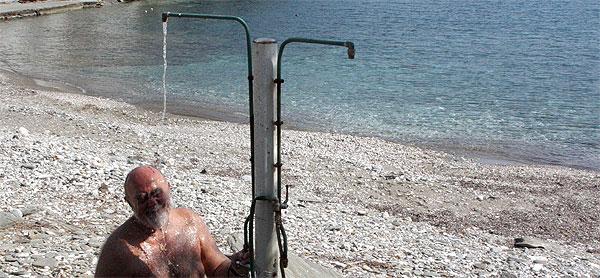 Vathy Strand Dusche