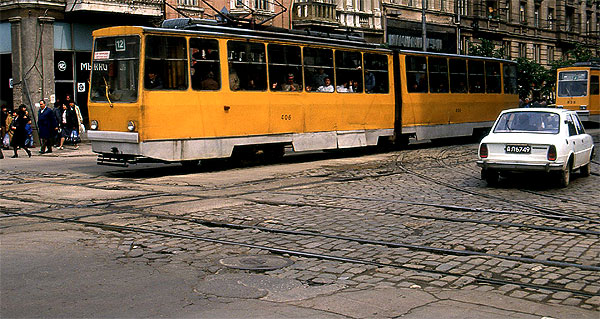 Sofia Straßenbahnkreuzung