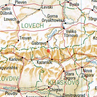 Karte Schipka Pass