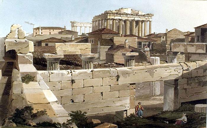 Dodwell Akropolis Parthenon