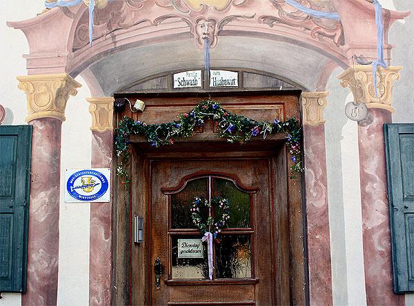 Jachenau Gasthof Tür