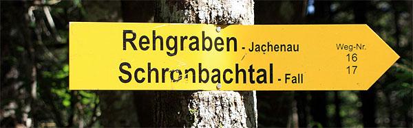 Wegweiser Rehgrabenalm