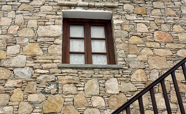 Folegandros Steinmauer