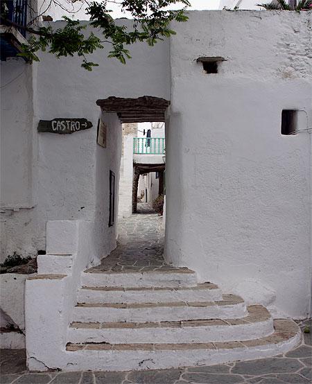 Castro Folegandros Eingang