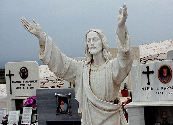 Folegandros Friedhof Jesus