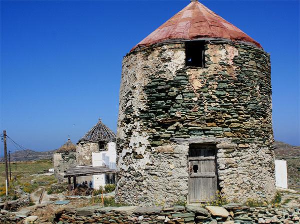 Folegandros Windmühlen