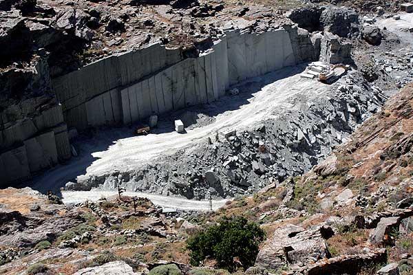 Steinbruch von oben