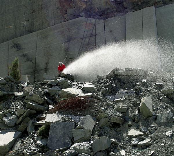 Steinbruch Wasserdruck