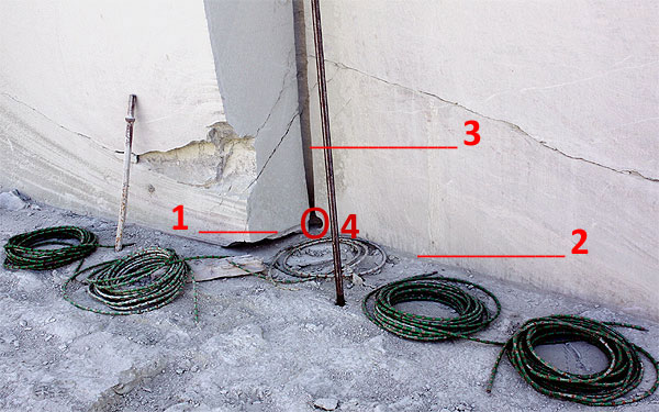 grüner Marmor Sägetechnik