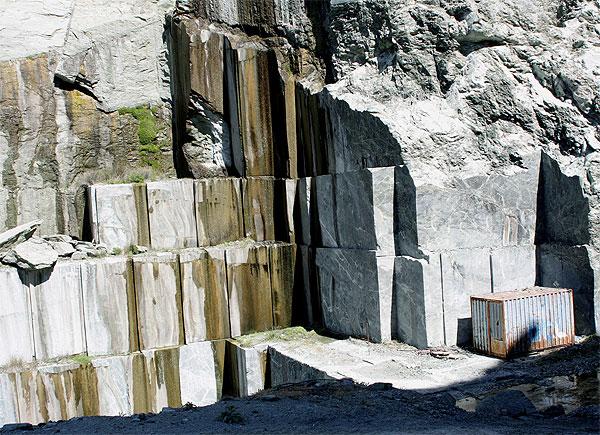 Steinbruch gesägte Wand