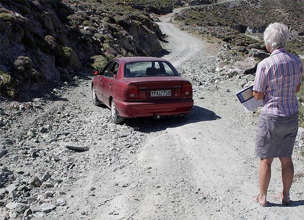 Tinos Weg zum Steinbruch