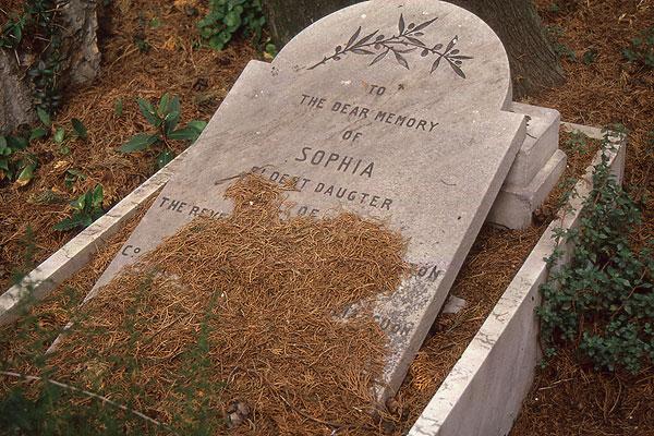 Staglieno englisches Grab