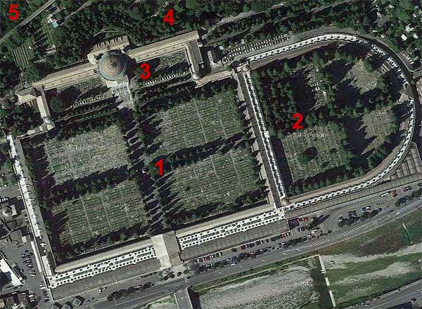 Cimitero Staglieno Luftbild