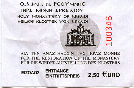 Kloster Arkadi Ticket