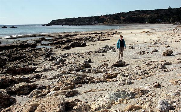 Strand bei Korakas