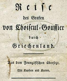 Titelseite Choiseul-Gouffier