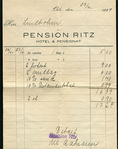 Rechnung Ritz