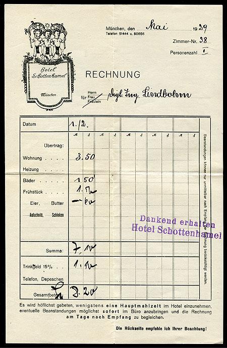 Schottenhamel Quittung