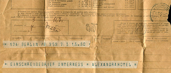 Telegramm Alexandra